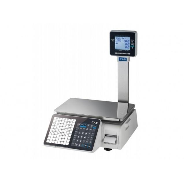 Cantar cu etichetare CAS CL3000 15P 15Kg cu display client, avizat metrologic